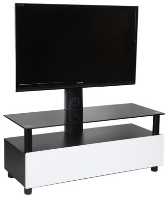 Sonorous Neo Troy White Cantilever TV Stand for up 50 inch TVs