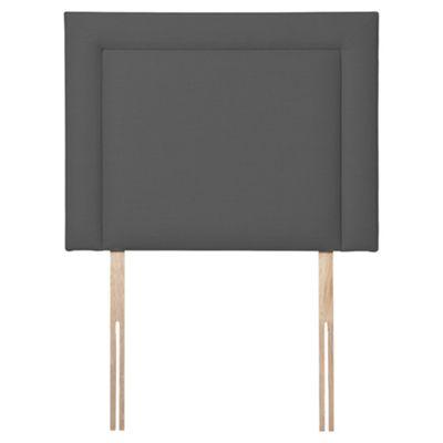 Seetall Hendon Faux Linen Single Headboard, Charcoal