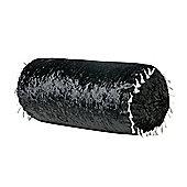 Ebony Bolster Crushed Velvet Pillow