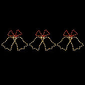 Christow Set Of 3 LED Christmas Bell Rope Lights