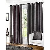 Hamilton McBride Faux Silk Lined Eyelet Grey Curtains - 66x54 Inches (168x137cm)