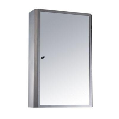 Buy Homcom Stainless Steel Bathroom Mirror Cabinet 2
