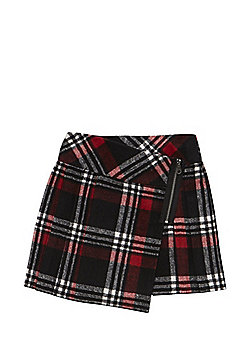 F&F Checked Kilt Skirt - Red