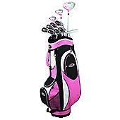 Golfgirl Fws2 Ladies Golf Clubs Left Hand Set With Bag - Pink