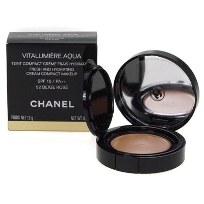 Chanel Vitalumiere Aqua Cream Compact Foundation 52 Beige Rose