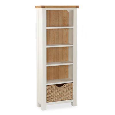 Daymer Cream Bookcase - Slim