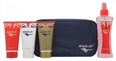 Gola Gift Set 75ml Body Wash + 75ml Hair Gel + 75ml Moisturising Balm + 150ml Moisturising Body Spray + Wash Bag