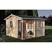 Forest Garden Malvern Log Cabin 3.6m x 3.6m Installed