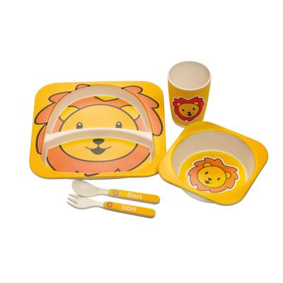 Epicurean Lion Eco Bamboo 5 Piece Kids Set