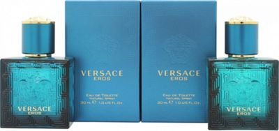 Versace Eros Gift Set 2 x 30ml EDT Spray For Men