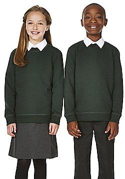 F&F School Unisex Sweatshirt with As New Technology - Green