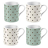 Set of 4 Katie Alice Cottage Flower Espresso Cups