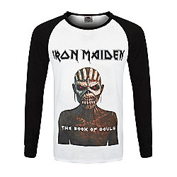Iron Maiden Book Of Souls Raglan White Men's Long-sleeve T-Shirt - White