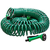 Kingfisher 30M Coil Garden Watering Hose Pipe, Spray Gun & Female Fittings