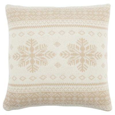 Scandi Snowflake Cushion Cream