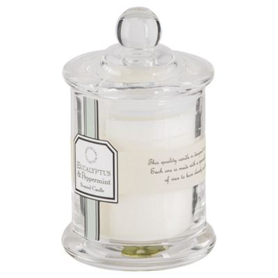 Tesco Apothecary Eucalyptus and Peppermint Candle in a Small Filled Jar