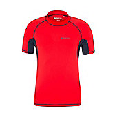 Mens Rash UV Protection Vest Swimming Diving Surfing Top - Red