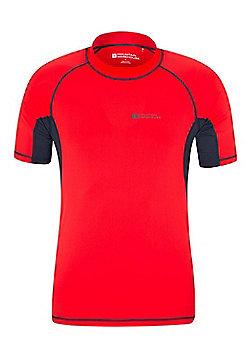 Mountain Warehouse Mens UV Rash Vest - Red