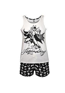 DC Comics Wonder Woman Batgirl Ladies Short Pyjamas - White