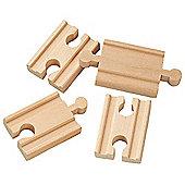 """2"""" Mini Straight Track X 4 For Wooden Railway Train Set 50901 - Brio Compatible"""