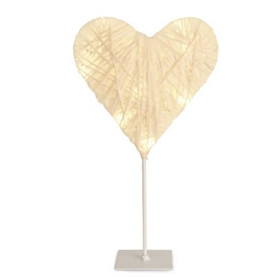 Paper Twine Battery Operated Heart Light & 10 Warm White LEDs