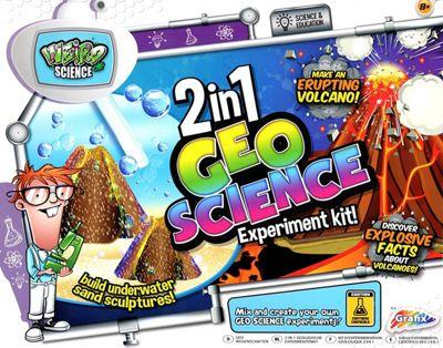Grafix 2 in 1 Geo Science Magic Sand & Volcano Experiment Childrens Educational Kit