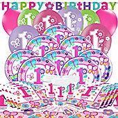 Sweet Girl 1st Birthday Party Pack - Deluxe Party for 16