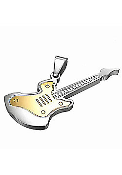 Urban Male Men's Two Colour Stainless Steel Electric Guitar Pendant