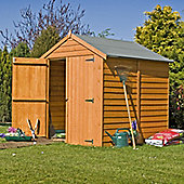 Finewood 6x6 Shed in Overlap Wood with Apex Roof & Double Doors