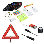 Homcom 13PCs Emergency Kit Roadside Breakdown Assistance Car Travel Safety