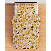 Emoji Girl Cotbed Junior Duvet Cover Set with Pillowcase