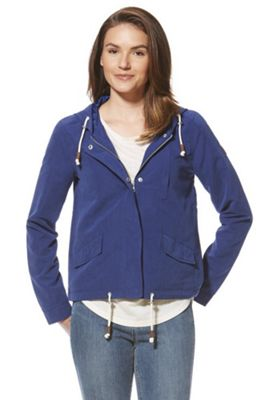 Only Drawstring Hem Parka Blue XS