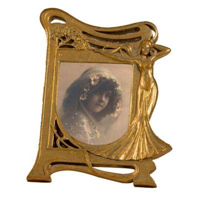 Art Nouveau Gold Gilt Leaf Photo Frame Height: 25cm
