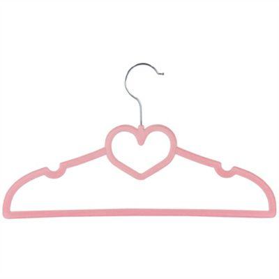 Set of 10 Kids Hearts Hanger - Soft Pink