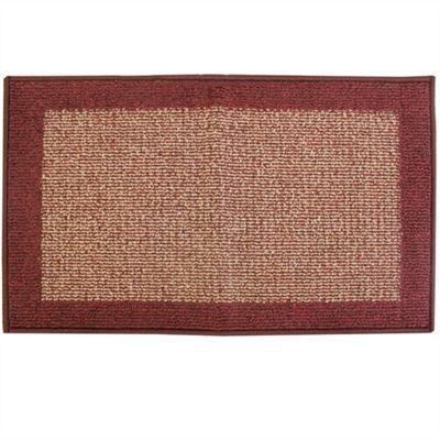 Madras Beige/Red Door Mat 40x70cm
