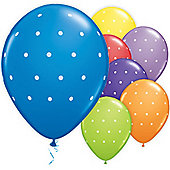 Small Polka Dot Assorted 11 inch Latex Balloons - 50 Pack