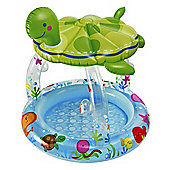 Intex Sea Turtle Baby Pool with Sun Shade - 57119