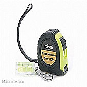 Rolson 2-Piece Tape Measure and Key Ring Level Set, 3m
