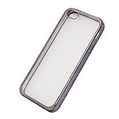 Tortoise™ Soft Protective Case, iPhone 5/5S.Electro Silver Edge