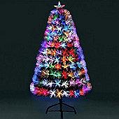 Jingles 6ft Supa-Nova Multi-Coloured Fibre Optic Christmas Tree