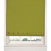 Hamilton Mcbride Aurora Square Eyelet Olive Blind - 150x165cm