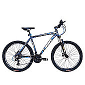 Tiger HDR 27.5 Front Suspension Mountain Bike Matte Grey Blue