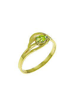 QP Jewellers 0.30ct Peridot Pear Strand Ring in 14K Gold