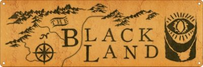 The Black Land Slim Tin Sign 30.5 x 10.1cm