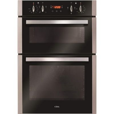 CDA DC940SS Electric Built-in Fan Double Oven With Touch Control Timer - Stainless Steel