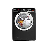 Hoover Washing Machine, DXOA48C3B, 8kg load with 1400 rpm - Black with Chrome Door