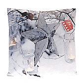 Country Club LED Christmas Cushion, Star