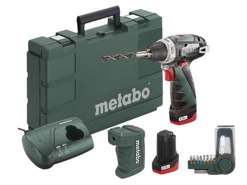 Metabo PowerMaxx BS Basic Screwdriver Set 10.8V 2 x 2.0Ah Li-ion