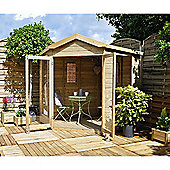 Forest Garden Blockley Summerhouse - 7x7 Shiplap Corner Pressure Treated