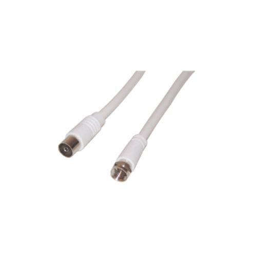 F Plug to Coax Socket 2m